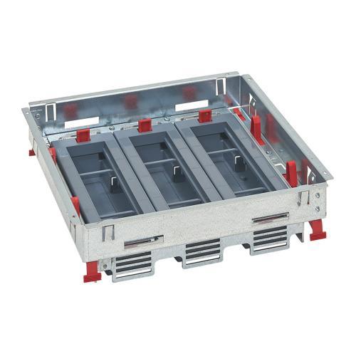 LEGRAND - Основа за подова кутия 24 (3х8) модула за хоризонтален монтаж на механизми 88022