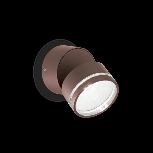 IDEAL LUX - Аплик OMEGA ROUND AP1 Coffee 247069 4000K