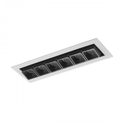 ITALUX - LED панел 12W 1510 lm 3000 K Цвят на лампата  Бял черен   Harper SL74109/12W S-WH