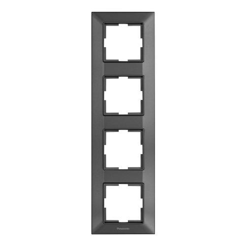 PANASONIC - Рамка четворна вертикална тъмносиво PANASONIC Arkedia slim WNTF0814-2DG