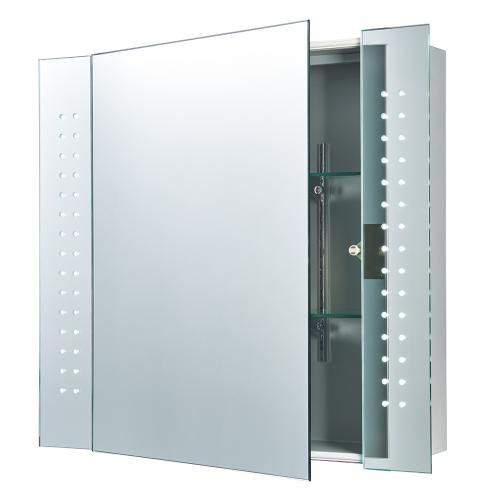 SAXBY - Светещо огледало REVELO shaver cabinet mirror IP44 4.8W SW daylight white LED 2X4.8W, K6500, 320LM