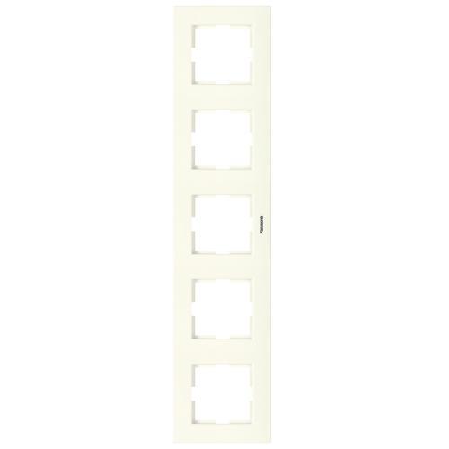 PANASONIC - Петица рамка вертикална крем Panasonic Kare WKTF08152BG‐EU1
