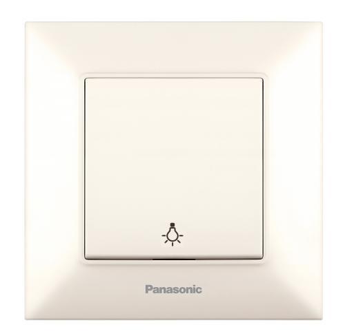 PANASONIC - Бутон със символ осветление Panasonic Arkedia Slim крем WNTC0016-2BG