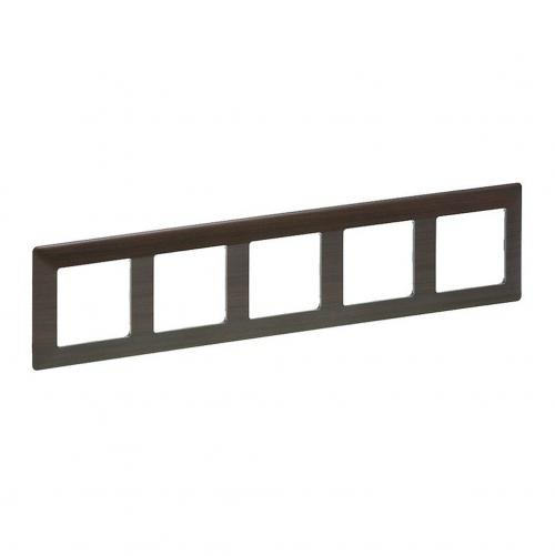 LEGRAND - 7 541 75 Plate Valena Life - 5 gang - dark wood