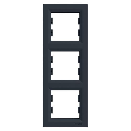 SCHNEIDER ELECTRIC - EPH5810371 Вертикална Рамка Тройна Asfora Антрацит