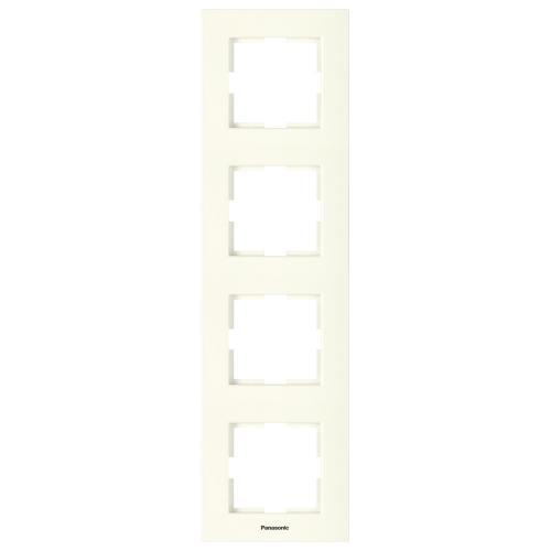 PANASONIC - Четворна рамка вертикална крем Panasonic Kare WKTF08142BG‐EU1