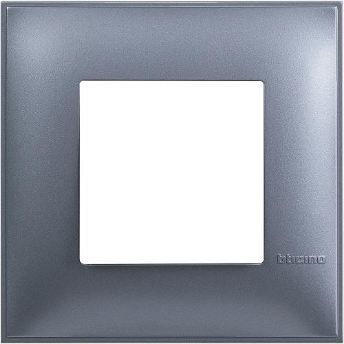BTICINO - R4802LM Рамка 2М немски стандарт син металик Classia