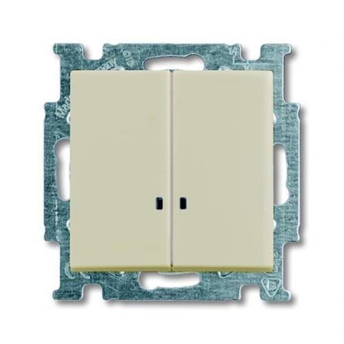 ABB - Сериен ключ с индикация ABB Basic55 крем 2CKA001012A2157