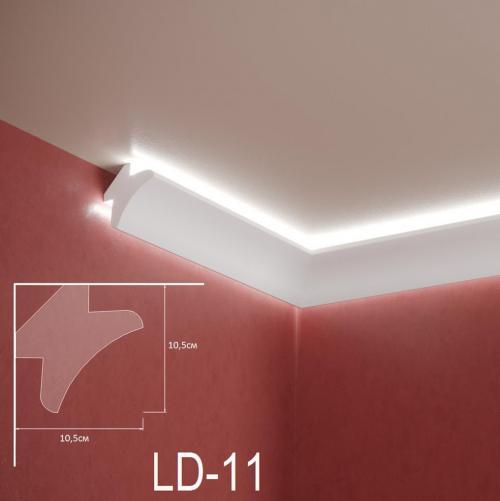 ADORN - Декоративен корниз за индиректно-осветление LD-11-2m 105х105 мм
