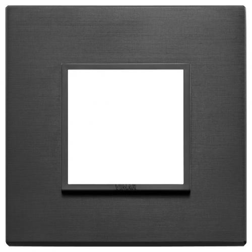 VIMAR - 21642.18 - Двумодулна рамка aluminium total black