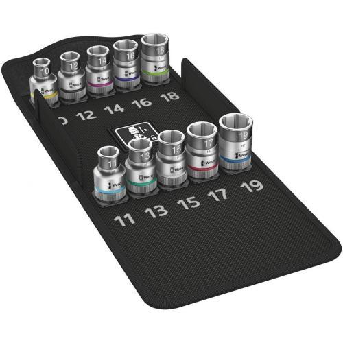 WERA - Комплект вложки HMC 8790 HF 1 10/11/12/13/14/15/16/17/18/19мм Zyklop в калъф 05004203001