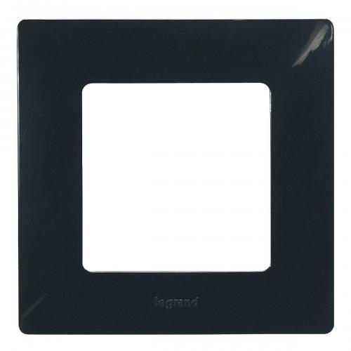 LEGRAND - Единична рамка NILOE 397051 Черен