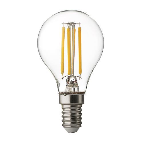 ULTRALUX - LFG41442D LED filament топка, димиращa 4W, E14, 4200K, 220V AC, неутрална светлина