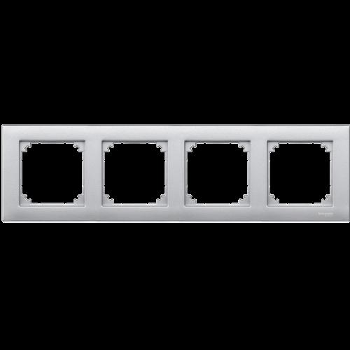 SCHNEIDER ELECTRIC - MTN486460 рамка четворна алуминий M-Plan Merten