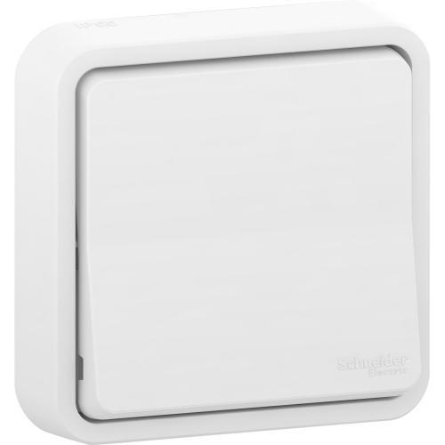 SCHNEIDER ELECTRIC - Единичен девиаторен ключ с монтажни крачета за скрит монтаж MUR39721 Mureva Styl бял