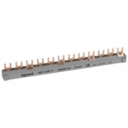 LEGRAND - Триполюсен захранващ гребен тип U за max. 4 свързани устройства 10мм2 404917