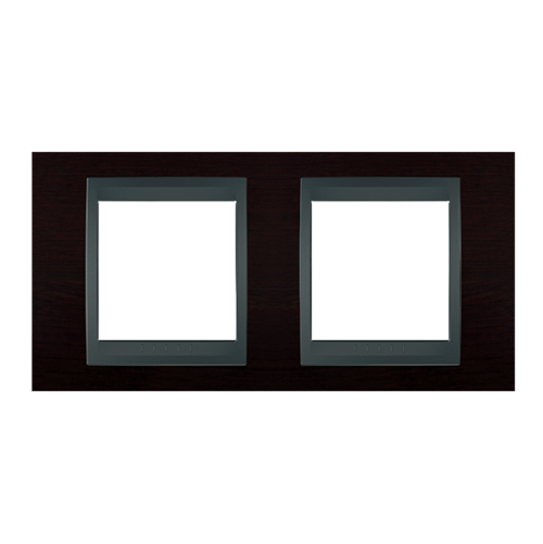 SCHNEIDER ELECTRIC - MGU66.004.2M3 Unica Top - cover frame - 2 gang - wengue/graphite