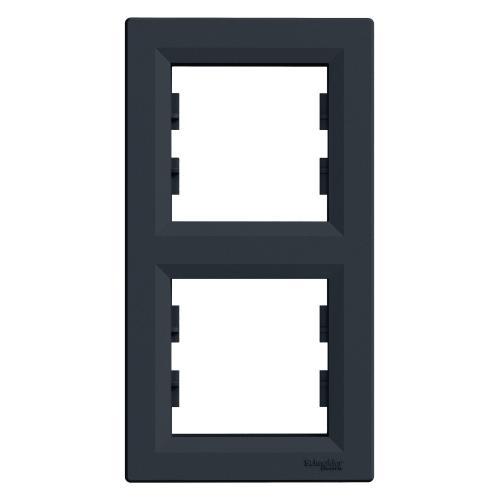 SCHNEIDER ELECTRIC - EPH5810271 Вертикална Рамка Двойна Asfora Антрацит
