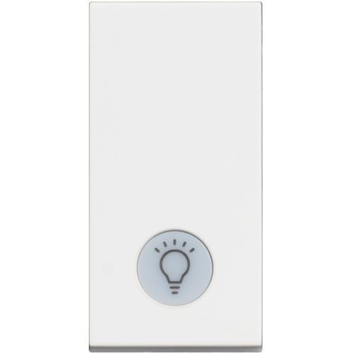 BTICINO - RW4001LA Еднополюсен ключ 10А с LED индикация и символ лампа Classia бял
