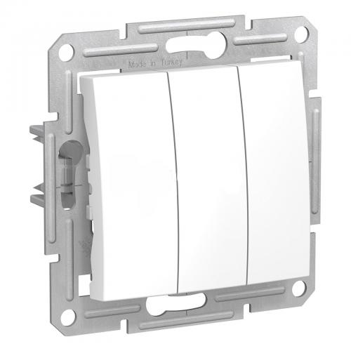 SCHNEIDER ELECTRIC - SDN0300621 Троен ключ Sedna, 10А бял