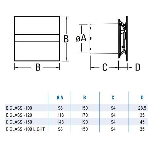 CATA - Вентилатор за баня CATA E-100 GBK