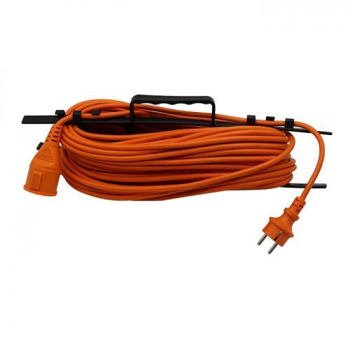 V-TAC - 30м Удължител Влагозащитен 16А Оранжев EU Стандарт IP44 SKU: 8815 VT-3002-30