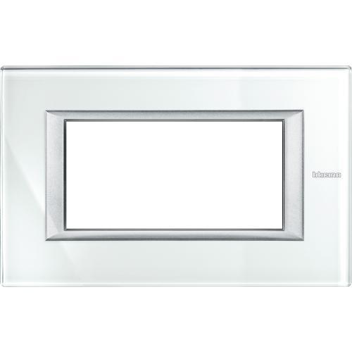 BTICINO - HA4804VSW Рамка 4М Whice стъкло правоъгълна Axolute