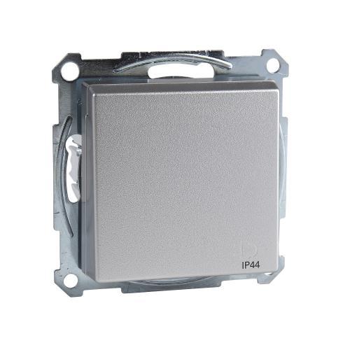 SCHNEIDER ELECTRIC - MTN2414-0460 Механизъм контакт шуко с лицев панел алуминий IP44 System M