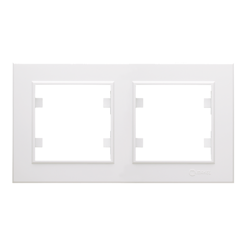 MAKEL - Двойна хоризонтална рамка Karea бяло 56001702