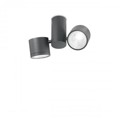 IDEAL LUX - Плафон SUNGLASSES PL2 Antracite  161846
