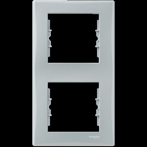 SCHNEIDER ELECTRIC - SDN5801133 декоративна рамка Sedna вертикална двойна сива
