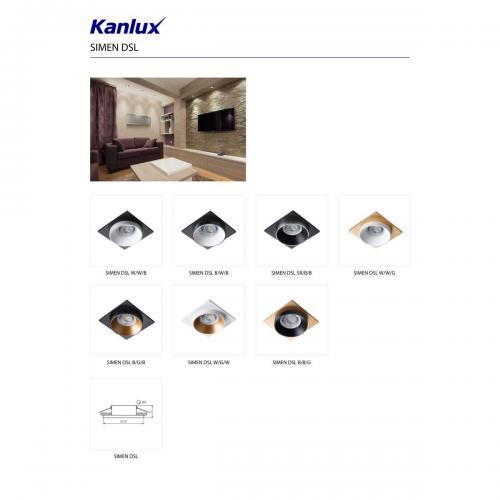 KANLUX - Луна бял/бял/злато SIMEN DSL W/W/G (29133)