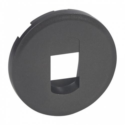 LEGRAND - Лицев панел за единична розетка за тонколони Celiane 67813 графит