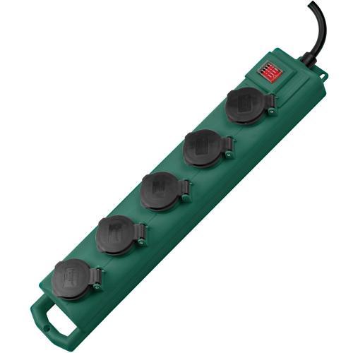 BRENNENSTUHL - Разклонител 5-ца, Super-Solid, 3х1.5mm2,5m, IP54, влагозащитен, с ключ, 1159910215