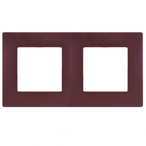LEGRAND - Двойна рамка NILOE 397082 лилав