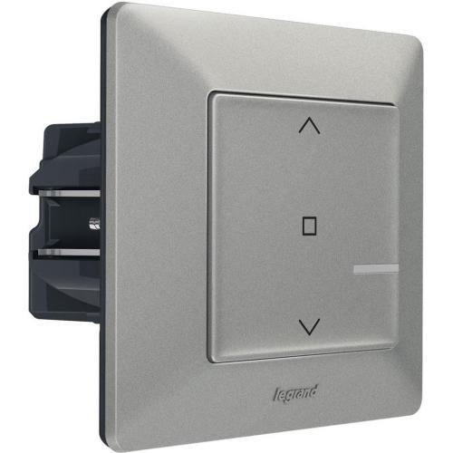 LEGRAND - Свързан ключ за щори жичен Netatmo 752390 Valena Life алуминий