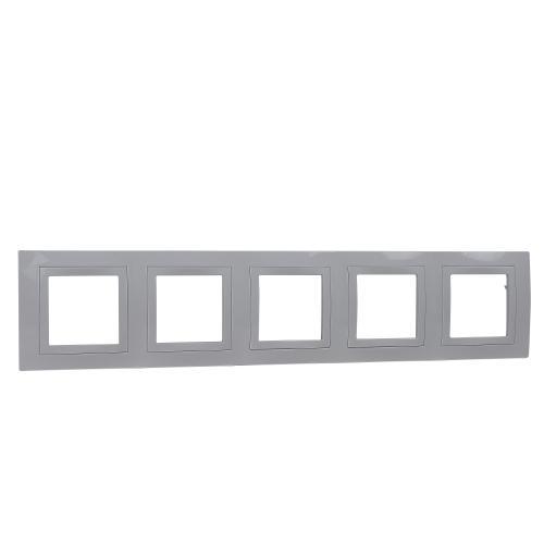 SCHNEIDER ELECTRIC - MGU2.010.18 декоративна рамка Unica Basic петорна бял