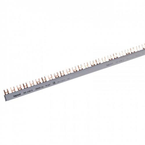 LEGRAND - Триполюсен захранващ гребен тип U за max. 19 свързани устройства 16мм2 404918