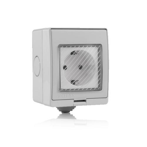 V-TAC - WIFI SMART IP55 Контакт Външен Съвместим с Amazon Alexa & Google Home SKU: 8414 VT-5000
