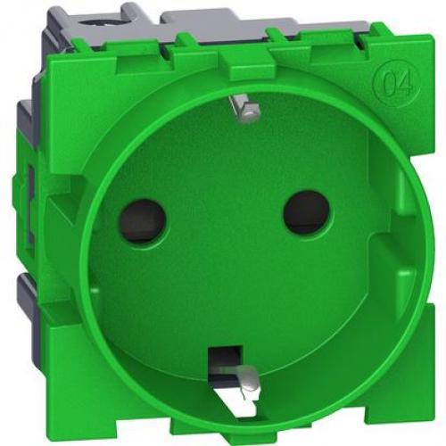 BTICINO - Немски контакт ШУКО  P+E 16 A 250 V зелен  KV4141