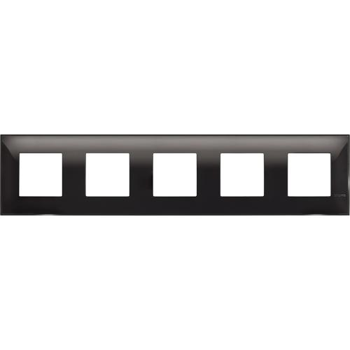 BTICINO - R4802M5BC cover plate - 2+2+2+2+2 horizontal/vertical installation modules - Black