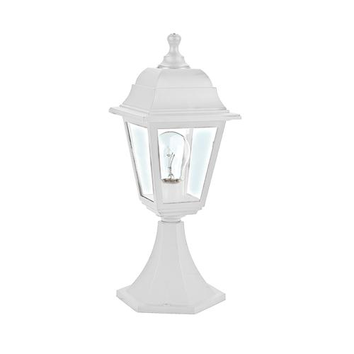 ACA LIGHTING - Градински фенер стоящ бял влагозащитен IP44 PLGP3W