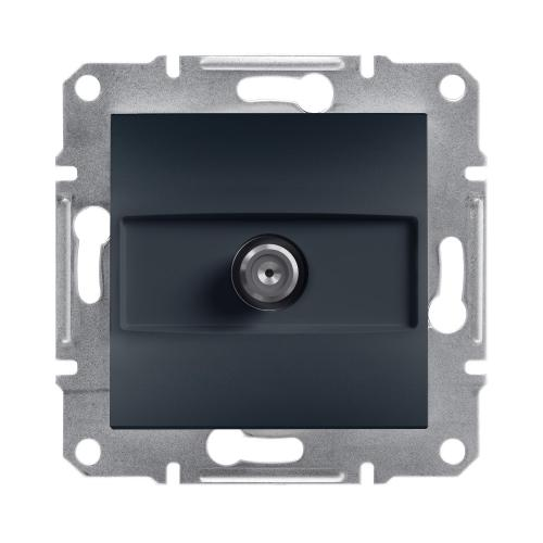 SCHNEIDER ELECTRIC - SAT розетка крайна 1dB антрацит Asfora EPH3700171