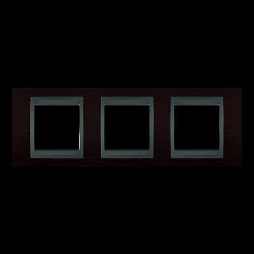 SCHNEIDER ELECTRIC - MGU66.006.2M3 декоративна рамка тройна венге/графит Unica Top