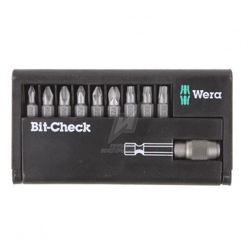 WERA - WR05134493001 Комплект битове Bit-Check с държач - 10 части