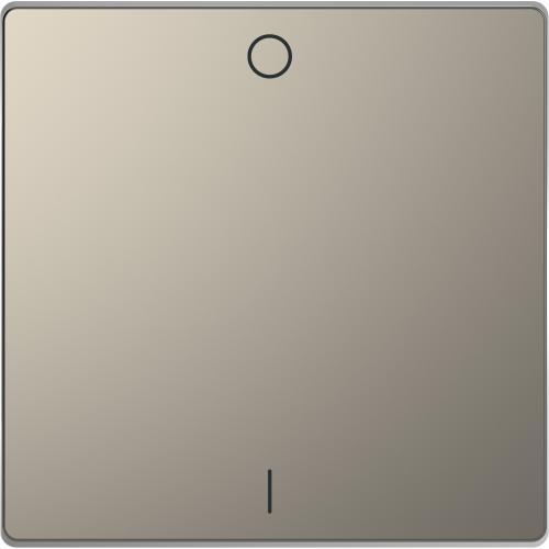SCHNEIDER ELECTRIC - MTN3301-6050 Лицев панел за двуполюсен ключ 1/0 символ метален никел System Design