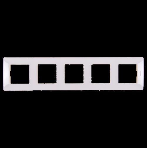 LEGRAND - Петорна рамка NILOE 665005 бяло