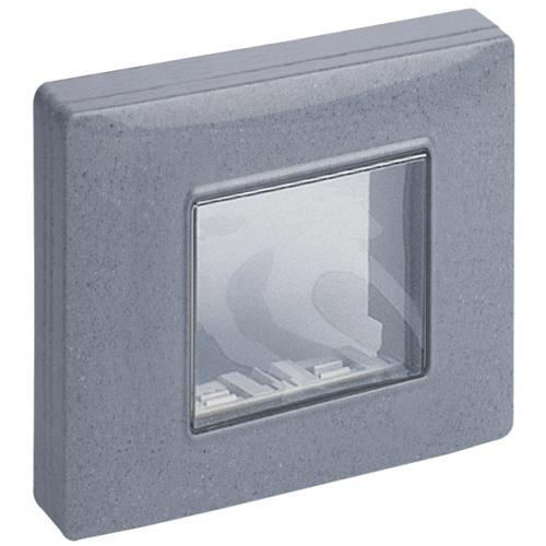 VIMAR - 14932.14 - IP55 cover 2M +screws granite grey