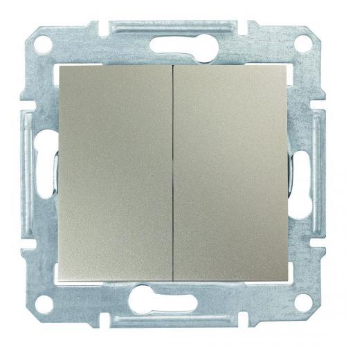 SCHNEIDER ELECTRIC - SDN0600168 Сериен девиаторен ключ Sedna, 10А , титаний