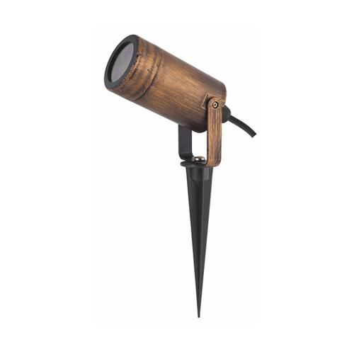 ACA LIGHTING - Градински прожектор ръждиво кафяв с колче влагозащитен IP65 SL7030R